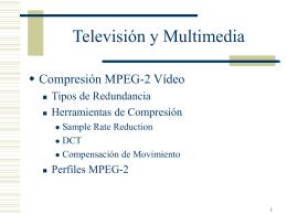 Compresión Vídeo standard MPEG2