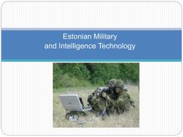 Eesti sõjatehnoloogia