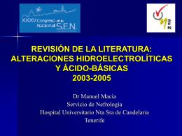 revisión de la literatura: electrolítos y fluidos 2003-2005