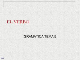 TEMA 5-EL VERBO
