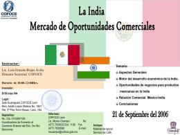 Aspectos Generales Motor del desarrollo económico de la India