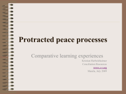 Protracted peace processes