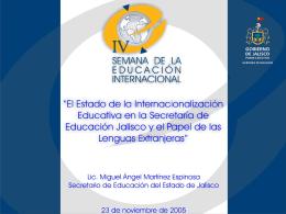 Presentación de PowerPoint - Secretaría de Educación Jalisco