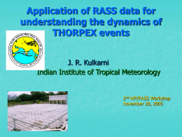 Shri J.R. Kulkarni, IITM, Pune - Indian Institute of Tropical Meteorology