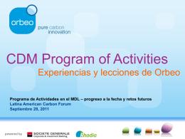 Orbeo - Latin American Carbon Forum