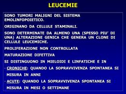 Leucemie acute - Istituto di ematologia