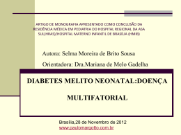 Diabetes melito neonatal