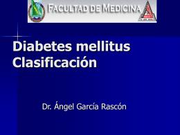 Diabetes mellitus Clasificación