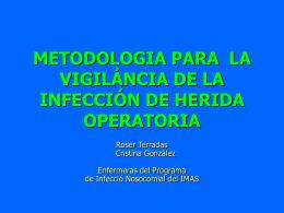 Metodologia para la vigilancia de la infección de herida