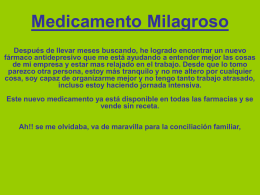 Medicamento Milagroso