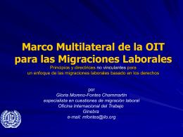 Marco Multilateral de la OIT para las Migraciones