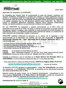 Información de Enero 2011 - Fundacion Pro-FIME