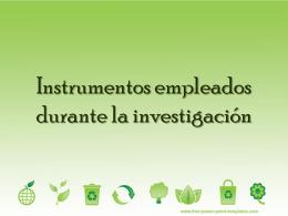 Instrumentos empleados durante la investigación - ana-upn