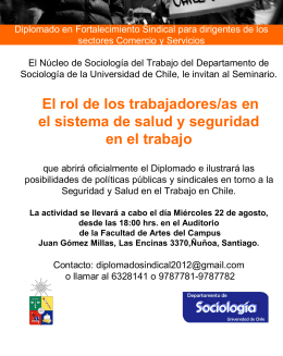 Invitación - Universidad de Chile