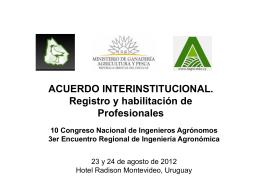 Diapositiva 1 - Asociación de Ingenieros Agrónomos del Uruguay