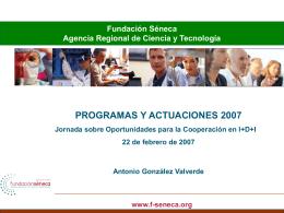 Fundación Séneca Agencia Regional de Ciencia y Tecnología