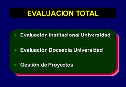 metodologia del plan nacional de evaluacion de las universidades