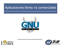 Aplicaciones libres vs comerciales