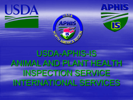 usda-aphis-is animal and plant health inspection service