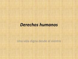 Derechos humanos - La Secun de San Lucas