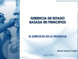 GERENCIA DE ESTADO BASADA EN PRINCIPIOS EL