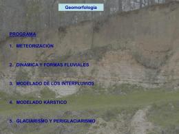 Geomorfología 1, 2 y 3.