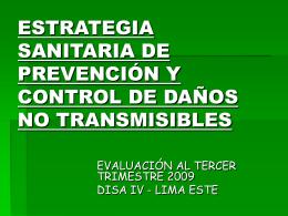 daños no transmisiblesal 3er trimestre 2009