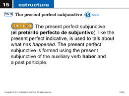 el pretérito perfecto de subjuntivo