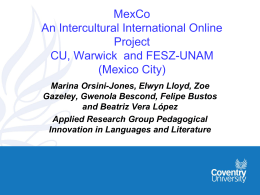 Negotiating intercultural awareness online: reporting on the first