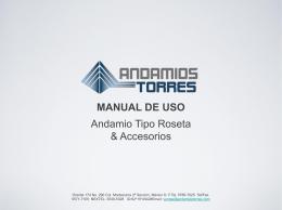 Descargar manual - Andamios Torres