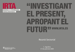 03 XRAq_2009_IRTA_ReunióSectorial_CA_Peixos_17-07