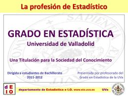 ver presentación realizada por la Universidad de Valladolid