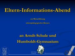 Informationsabend in der Montessori-Schule - Alexander