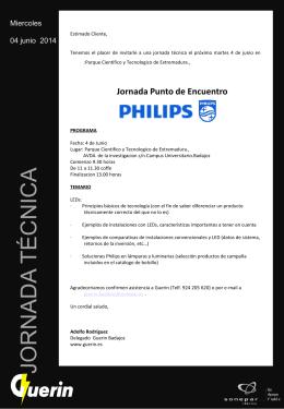 Invitacion Jornadas Philips-Badajoz-1