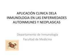 13. Aplicación de la Inmunología en las Enfermedades