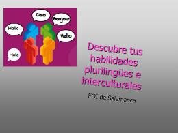Descubre tus habilidades plurilingües e interculturales para