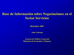 Base de Información sobre Negociaciones en el Sector Servicios
