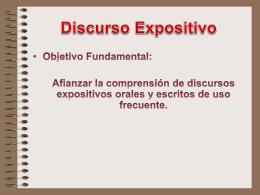 Discurso Expositivo
