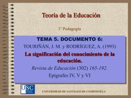 Función pedagógica - Páxinas persoais