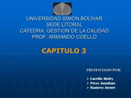 UNIVERSIDAD SIMÓN BOLÍVAR SEDE LITORAL CATEDRA