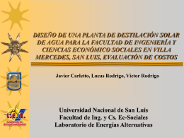 Presentación-Diseño Planta de Destilación - FICA