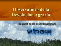 Observatorio de la Revolución Agraria