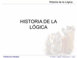 Historia de la Lógica Politécnico Modelo