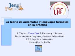ppt - Departamento de Lenguajes y Sistemas Informáticos
