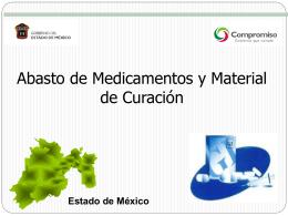 Servicio subrogado de farmacia para el Estado de México