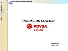 EVALUACION COVENIN BARIVEN PDVSA_GRUPO 8[1]