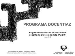 cuál es la finalidad del programa docentiaz.