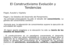 El Constructivismo Ev y Tenden power