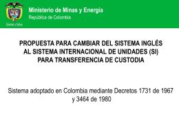 Ministerio de Minas y Energía - CNO-Gas