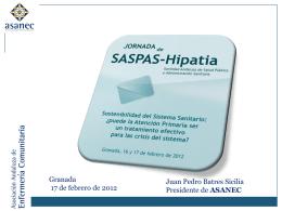 Diapositiva 1 - SASPAS